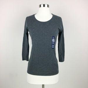 NWT GAP Sparkle Gray Wool Blend Sweater XS